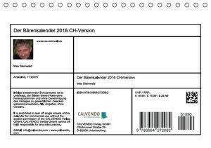 Der Bärenkalender 2016 CH-Version (Tischkalender 2016 DIN A5 que