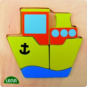 Lena 32088 - Holzpuzzle Schiff
