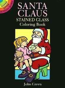 Santa Claus Stained Glass Coloring Book