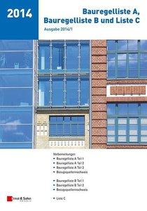 Bauregelliste A, Bauregelliste B und Liste C