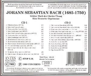 Bach 3.Theil Der Clavier Übung/Deutsche Orgelmesse