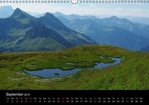 Across the Alps / UK-Version (Wall Calendar 2015 DIN A3 Landscap