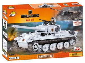 COBI 3012 - Panther G, World of Tanks, Small Army, grau