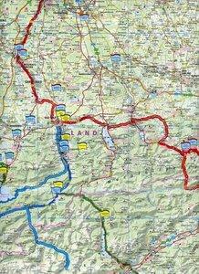 Motorradkarte Oberbayern - Tirol - Südtirol 1 : 250 000