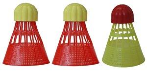 Beachminton 490090 Ersatzball AEROSPEED, red-yellow, 12 x 6 x 6