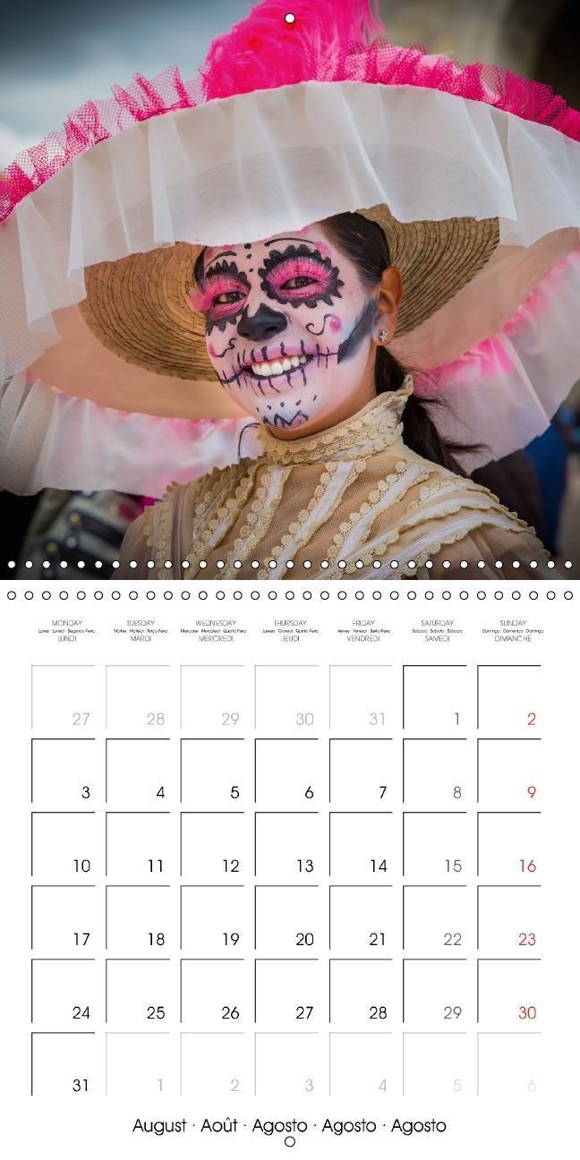 Dia de muertos (Wall Calendar 2015 300 × 300 mm Square) - zum Schließen ins Bild klicken