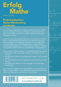 Erfolg in Mathe: Lernkarten für den Realschulabschluss Mathemati