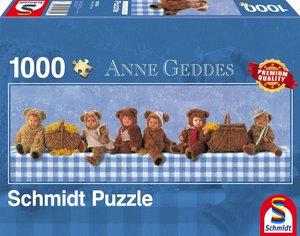 Anne Geddes, Panoramapuzzle, Teddybären- Picknick. Puzzle 1.000