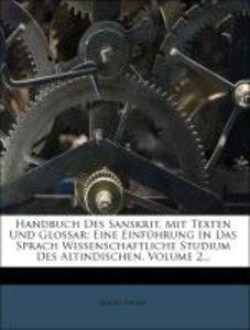 Handbuch Des Sanskrit, Mit Texten Und Glossar: Eine Einführung I