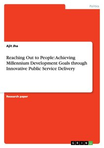 Reaching Out to People: Achieving Millennium Development Goals t