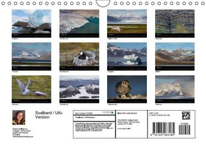 Svalbard / UK-Version (Wall Calendar 2016 DIN A4 Landscape)