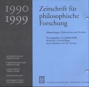 Zeitschrift für philosophische Forschung 1990-1999