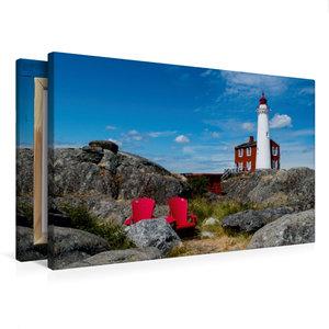 Premium Textil-Leinwand 75 cm x 50 cm quer Fisgard Lighthouse