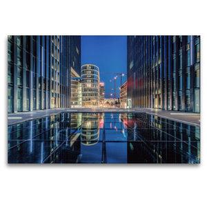Premium Textil-Leinwand 120 cm x 80 cm quer Medienhafen Düsseldo