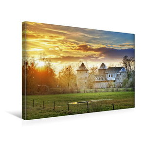 Premium Textil-Leinwand 45 cm x 30 cm quer Wasserburg Haus zum H