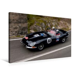 Premium Textil-Leinwand 75 cm x 50 cm quer Jaguar E-Type