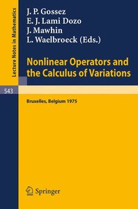 Nonlinear Operators and the Calculus of Variations