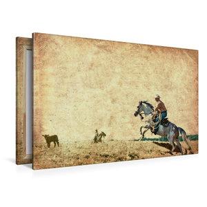Premium Textil-Leinwand 120 cm x 80 cm quer Wild West