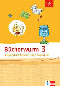 Bücherwurm Sprachbuch 3. Schuljahr. Arbeitsheft Fördern und Ink