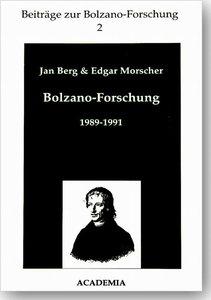 Bolzano-Forschung 1989-1991