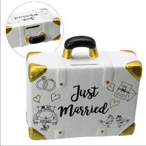 Spardose Keramik Reisekoffer Hochzeit