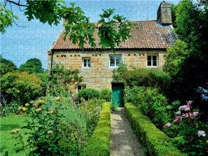Haus mit Garten auf Jersey 2000 Teile Puzzle quer