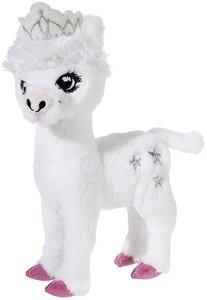 Heunec 751675 - Crownie Alpaka, stehend, 20 cm, weiß, Plüschtier