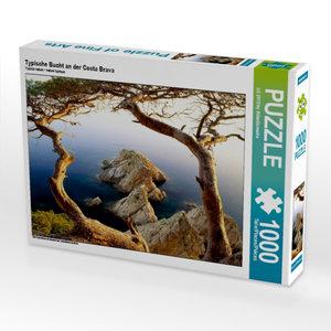 Typische Bucht an der Costa Brava 1000 Teile Puzzle quer