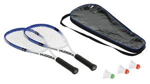 HUDORA 75014 - Badminton-Set Speed HD-55 (2 Schläger, 3 Bälle, T