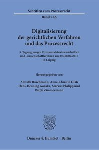 Digitalisierung der gerichtlichen Verfahren und das Prozessrecht