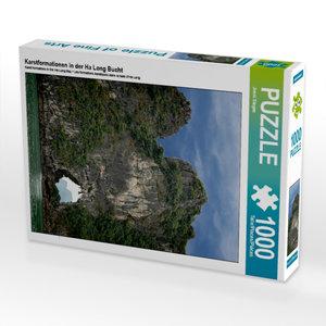 Karstformationen in der Ha Long Bucht 1000 Teile Puzzle hoch