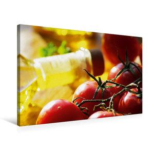 Premium Textil-Leinwand 75 cm x 50 cm quer Tomaten mit feinstem