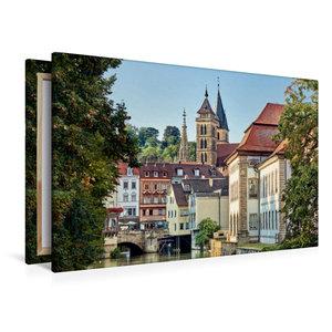 Premium Textil-Leinwand 120 cm x 80 cm quer Altstadt und Stadtki