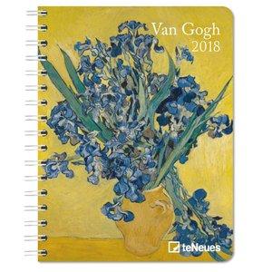 Vincent van Gogh 2018 Buchkalender/Diary Deluxe
