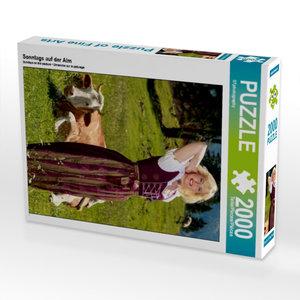 Sonntags auf der Alm 2000 Teile Puzzle hoch