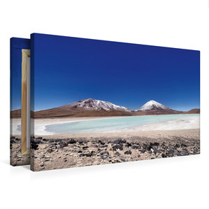 Premium Textil-Leinwand 75 cm x 50 cm quer Laguna verde mit Lica