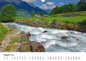 Norwegen 2019 - vom Fjord zum Fjell (Wandkalender 2019 DIN A3 qu