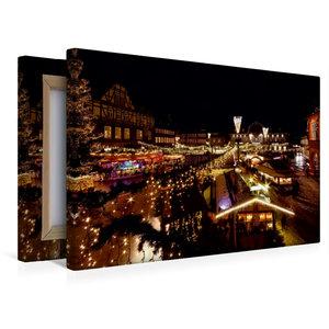 Premium Textil-Leinwand 45 cm x 30 cm quer Weihnachtsmarkt in Go
