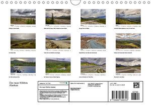 Die raue Wildnis Alaskas (Wandkalender 2019 DIN A4 quer)