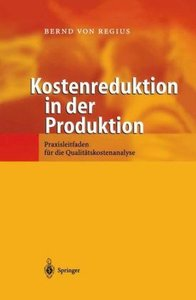 Kostenreduktion in der Produktion