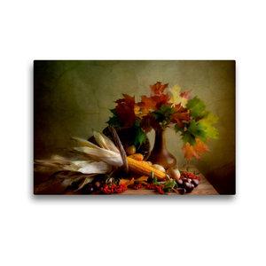 Premium Textil-Leinwand 45 cm x 30 cm quer Herbstliches Stillleb