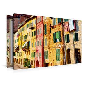 Premium Textil-Leinwand 120 cm x 80 cm quer Bunte Häuser