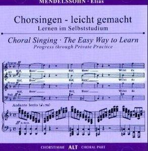 Elias op.70, Chorstimme Alt, 1 Audio-CD