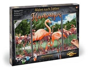 MNZ Flamingos Triptychon 50x80cm