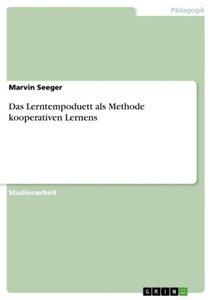 Das Lerntempoduett als Methode kooperativen Lernens