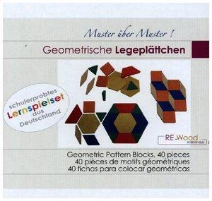 40 geometrische Legeplättchen aus RE-Wood®