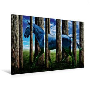 Premium Textil-Leinwand 120 cm x 80 cm quer Das Pferd