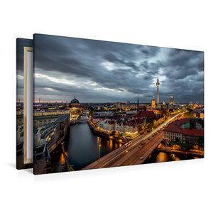 Premium Textil-Leinwand 120 cm x 80 cm quer Fischerinsel