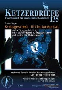 Ketzerbriefe 135. Krebsgeschwür Hitlerkonkordat - seine Vorgesch