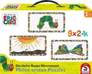 Die kleine Raupe Nimmersatt. Mein erster Puzzlespaß. 9x2 Puzzlet